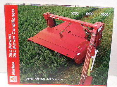 New Idea Disc Mowers Conditioners Brochure 5200 5400 5500