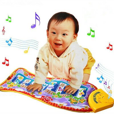 Gifts For Baby Kid Child Piano Music Fish Animal Mat Touch Kick Play Pad new