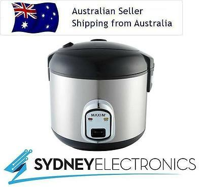 Maxim 1.8L Litre 10 Cup Healthy Cooking Rice Cooker Steamer- MKRC10S