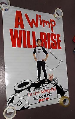 """2017 Diary of A Wimpy Kid Long Haul Movie Poster 27"""" X 40"""" Official Damaged"""