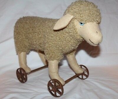 VTG Midwest of Cannon Falls Approval Sample Piece - Sheep on Wheels Pull Toy