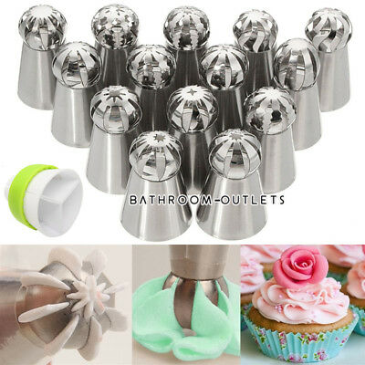 14x Sphere Ball Icing Piping Nozzles Round Tips Cake Decorating Pastry Tool Set