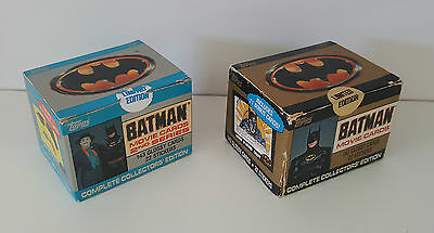 Topps Batman Collectors Cards Series 1 and 2 Sealed Sets Unopened