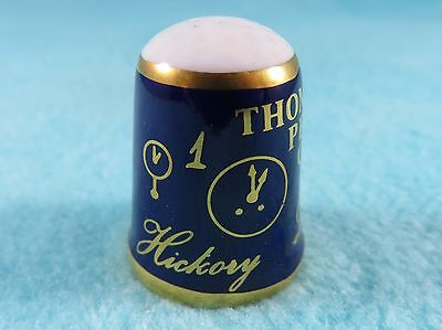 CAVERSWALL Thimble - Nursery Rhymes - Hickory Dickory Dock - Author Peacock 1817