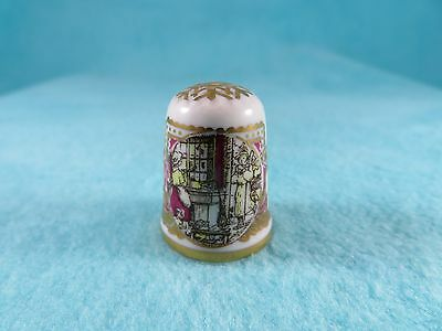 CAVERSWALL - Victorian Christmas Scene Thimble - Limited Edition - Hand Numbered