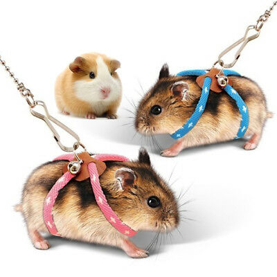 Small Pet Adjustable Soft Harness Leash Bird Parrot Mouse Hamster Ferrets Rat