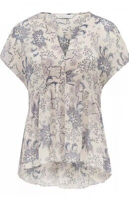 Forever New Aria Eyelet FLoral Peplum Top Size 8