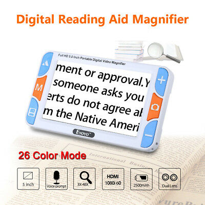 """5.0"""" LCD Color Electronic Video Digital Magnifier Reading Aid 48X For Low Vision"""