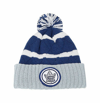 c9ec0bfc90581c Mitchell & Ness NHL Beanie Totonro Maple Black Gold White Quilted Pom Knit  Hat