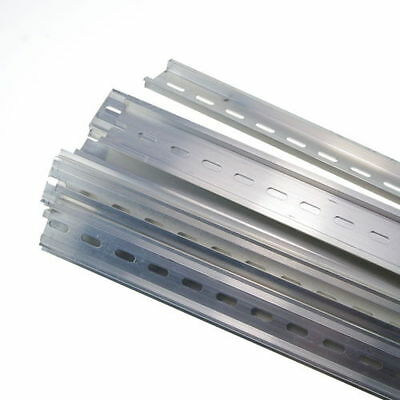 5 Piece 0.5 Meter Aluminum U-Groove Slotted DIN Rail For C45 Switch Meter