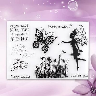 Butterfly Pattern DIY Transparent Silicone Stamp Seal Craft Scrapbooking Decor