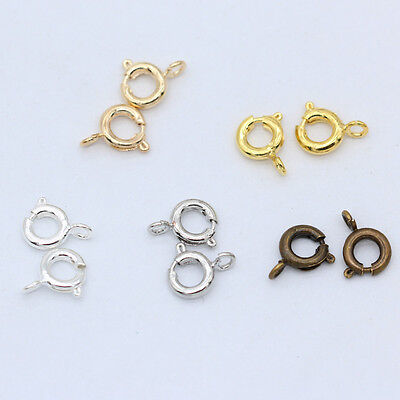 6mm spring ring round Lobster Clasps finding connector for necklace&Bracelet DIY