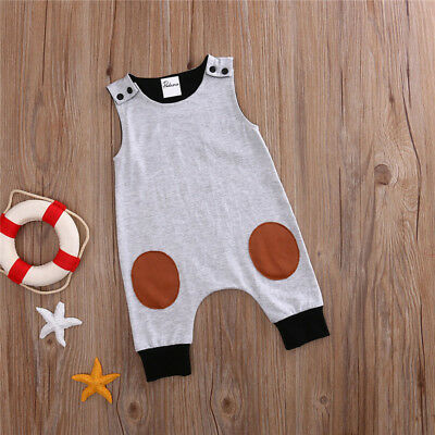 AU Newborn Kids Baby Boy Girl Infant Romper Jumpsuit Bodysuit Clothes Outfit