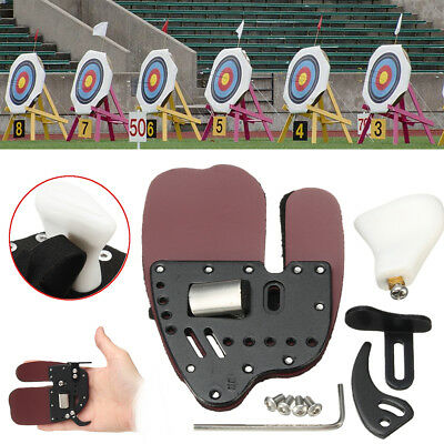 RUGBII Leather Archery Finger Protector Guard Glove Tab Shooting For Right Hand