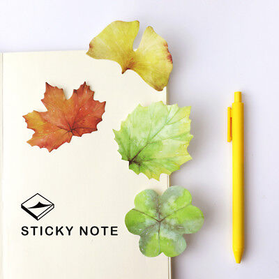 30sheets/book leaf shape Remove message Sticky Post It Notes Memo pad marker