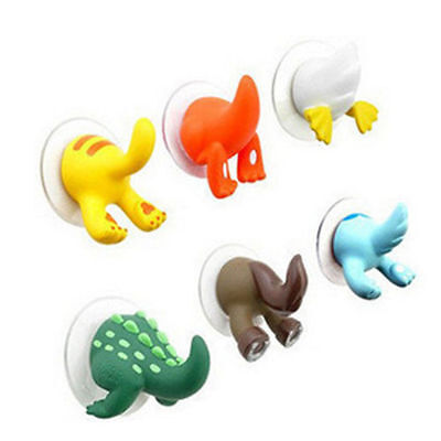 Cute Animal Tails Hooks Hanger Bathroom Kitchen Shower Cloth Towel Suction Cup
