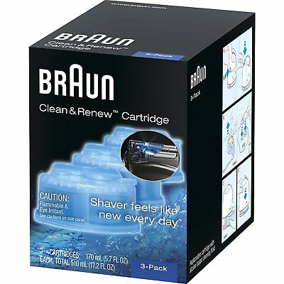 3 Count Braun Clean & Renew Refill Cartridges CCR  Shaver self-cleaning automat