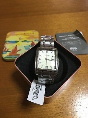 Vintage Stainless Steel Men's Fossil Watch New Unused Gift