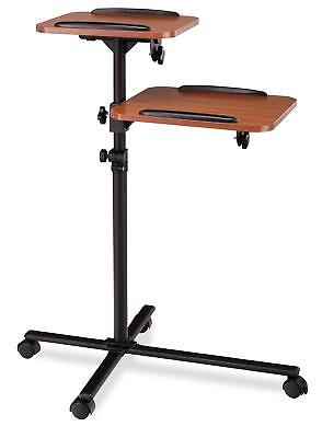Projector Trolley Ajustable 70Cm To 110Cm Beamer Panel Tablestand 4 Wheels Wood