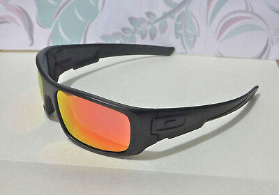 0ac1df2e0f2 New Oakley Crankshaft Sunglasses Matte Black   Custom Polarized Ruby (No