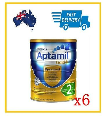 6 x Karicare Aptamil Gold+ Step 2 Baby Formula 6-12 Months 900g Powder NEW!