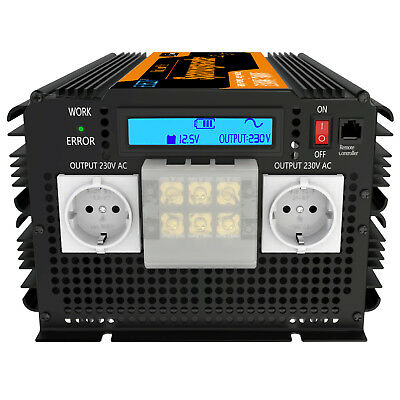 3500W 7000W Convertitore Pure Sine Wave 12V 230V Power inverter LCD Display