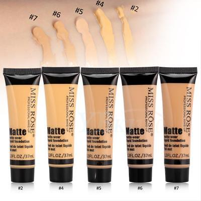 MISS ROSE Matte-wear Liquid Foundation Smooth Makeup Base Face Cream 37ML AF