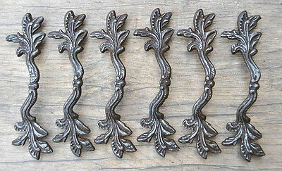 "6pcs VTG 6.5"" Cast Iron door cabinet screen handle Pull rustic Salvage farm deco"