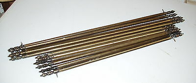 11 Vintage French Brass Stair Rods 2 Lengths