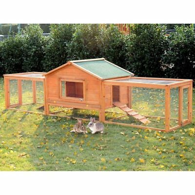 Extra Large 10FT Chicken Coop Hen Poultry Ark House Rabbit Hutch Run Nest XL New