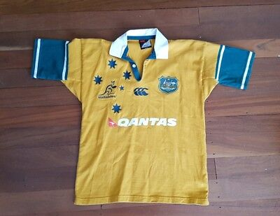 Vintage Canterbury Australian Wallabies Rugby Jersey - Size Small FREE POSTAGE