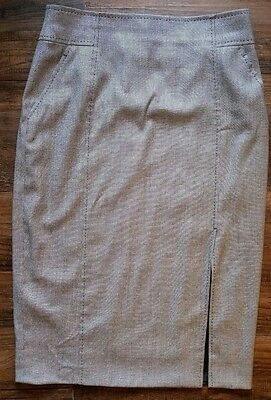 Escada pencil skirt black and white weave size 32 waist final listing