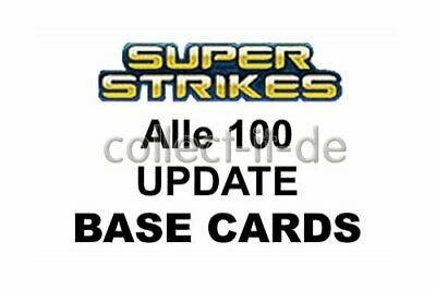 Panini Super strikes Update-uefa cl 09//10 todos 100 base Cards
