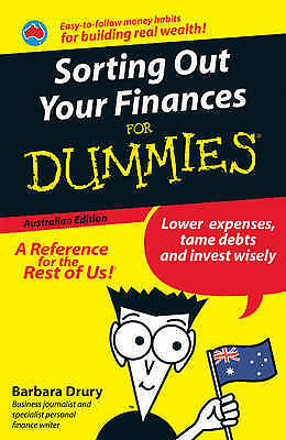 NEW Sorting Out Your Finances For Dummies, Australian Edition By Drury Paperback