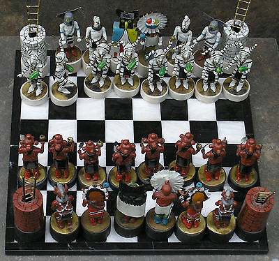 Hand Made Chess Set by Charlie Pratt, Native American 2 Time Artist of the Year