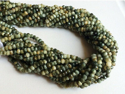 """14"""" 5 Strands WHOLESALE Cats Eye Micro Faceted Rondelle Beads, Cats Eye Necklace"""