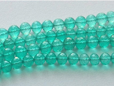 """4"""" Strand Faceted Crystal Quartz, Coated Crystal Round Ball Beads"""