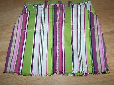 Toddler Size 5T Baby Gap Lime Green Pink White Purple Striped Mini Skirt EUC