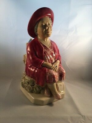 Boxed Kevin Francis Ceramic Character Jug Queen Mother Ltd Edition with CoA