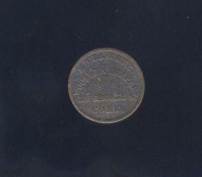 1840's Irish Token From St. Croix, Ex: Mendel Peterson Coll. Free USA Shipping