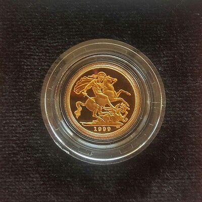 1999 United Kingdom Half Sovereign Proof Gold Coin