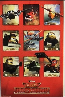 PLANES 2  Grid FIRE AND RESCUE POSTER DISNEY PIXAR 22x34 NEW