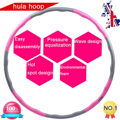 Professional  Abs Hoola Hula Hoop Weighted MagneticMassager Gym Fitness Exercise