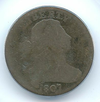 1807 Large Fraction Draped Bust Large Cent, ANACS AG3