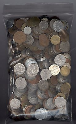 5lbs (2.27 Kilograms) of Mixed Foreign Coins - Bulk Lot