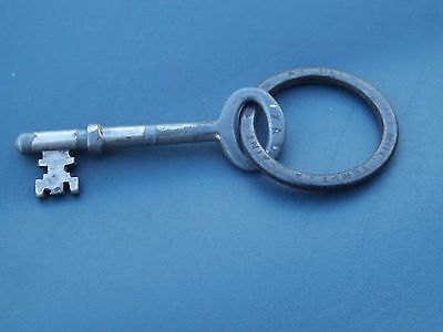 Antique Union 7A Key And Key Ring - An Open Door Will Tempt A Saint