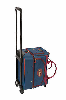 ACCLAIM Eyemouth Bowls Bowlers Bowling Trolley Bag Navy Blue & Waterproof Cover