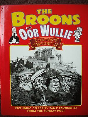 The Broons / Oor Wullie Annual Nations Favourites Celebrity Fans H Back Dj Vgc