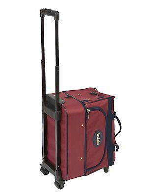 ACCLAIM Eyemouth Bowls Bowlers Bowling Trolley Bag Burgundy & Waterproof Cover