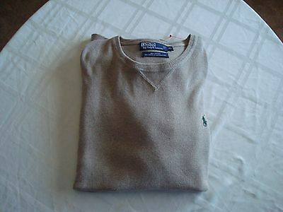 Polo Ralph Lauren Ls Solid Natural V-Neck Sweater Size: Xlarge